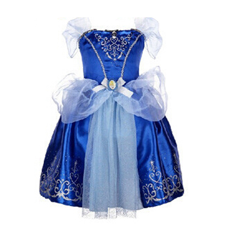 High Quality Children Clothing Baby Girls Dresses Princess Cosplay Costume Kids Party Dress Sofia Princess dress Blue tutu dress high quality girls baby hollow out bud silk condole belt dress princess party dresses children s clothing wholesale