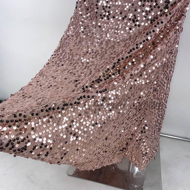 Gnao Womens Stylish Spaghetti Sequins Strap Bandage Party Bodycon Dress