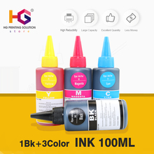 Universal 4 Color C M Y K Dye Ink For HP with 100ML for Premium General printer ink all models