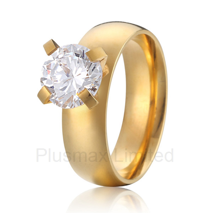 China factory cheap affordable prices gold color cheap pure titanium jewelry promise wedding engagement rings anel de casamento cheap pure titanium satin surface gold color colorful stone cheap pure titanium promise wedding band rings