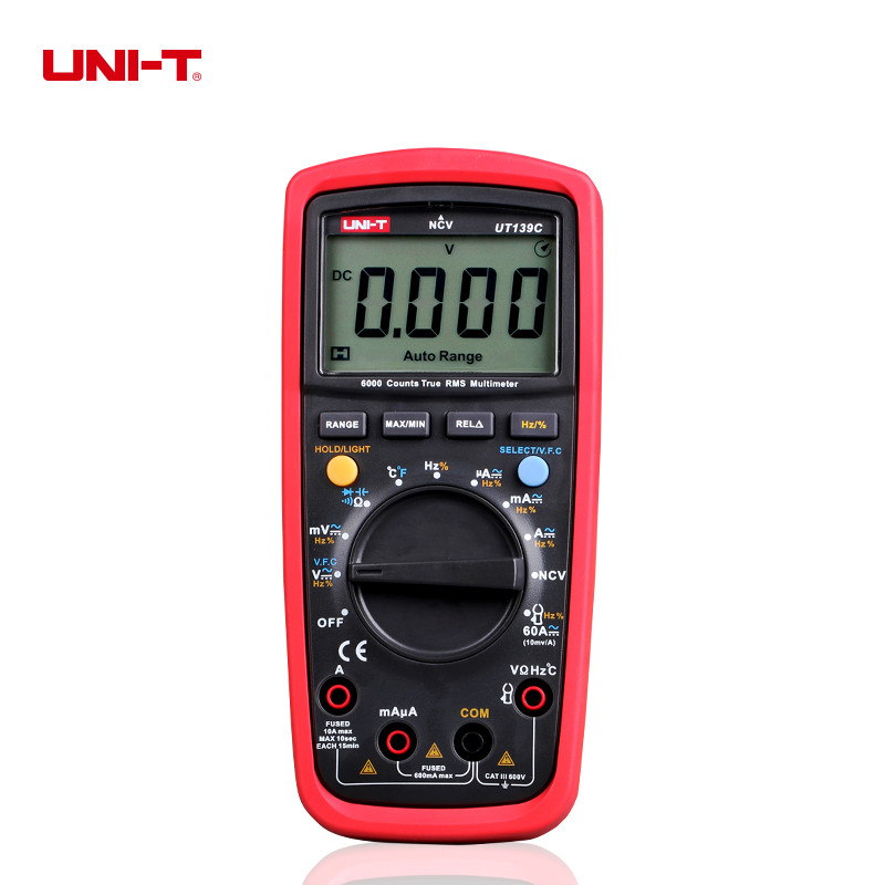 UNI-T UT139C True RMS LCD Multimeter Digital Tester Electric Handheld Tester 6000 Count Multimetro цены