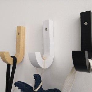Image 5 - Wood Hook, J Hook, Load bearing 10 KGS, Modern Wood Coat Racks Wall Hanging Hook Hanger Decoration for Livingroom/Kitchen...