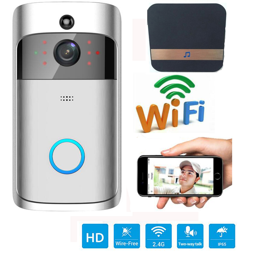 Wireless Ip Türklingel Mit 720 P Kamera Video Telefon Wifi Türklingel Nachtsicht Ir Bewegungserkennung Alarm Security Türtelefonsystem Türsprechstelle