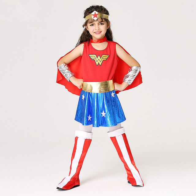Halloween Kids Wonder Woman Kid Cosplay Costume Disfraces Infantiles Baby Superheroes Uniform Suit Costumes  sc 1 st  AliExpress.com & Halloween Kids Wonder Woman Kid Cosplay Costume Disfraces Infantiles ...