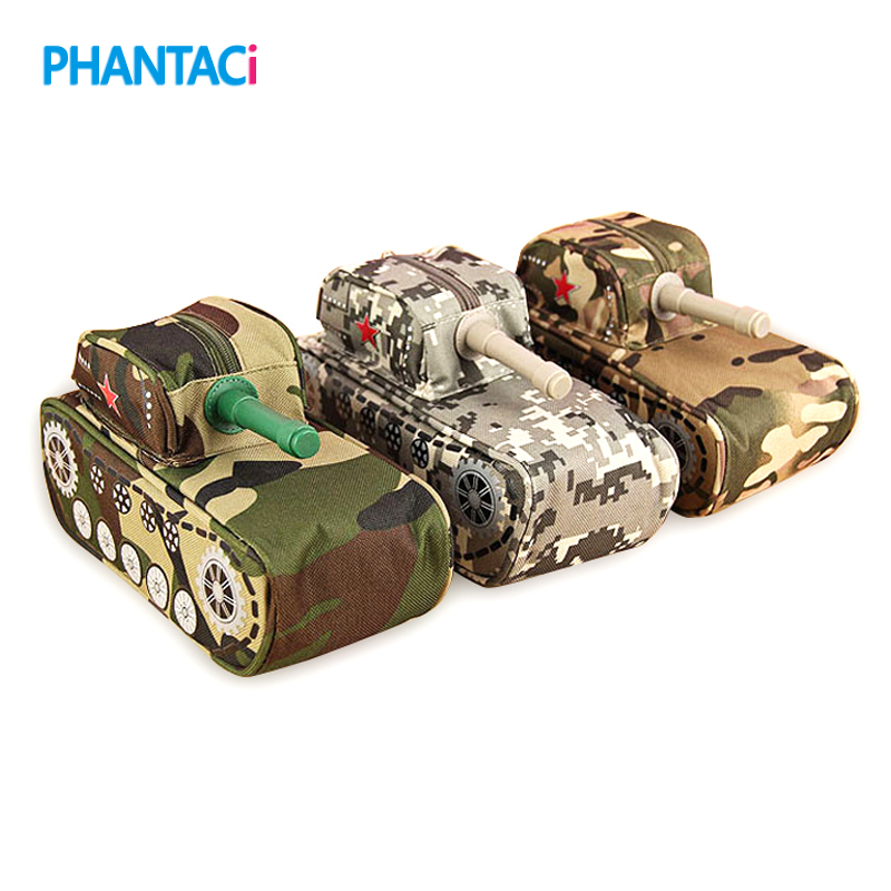 Creative Tank Shaped Pencil Box Cool Stationery Pencil Case Large Capacity Pen Bag Pouch Storage Box Students Prize Stationery pencil shaped pencil case