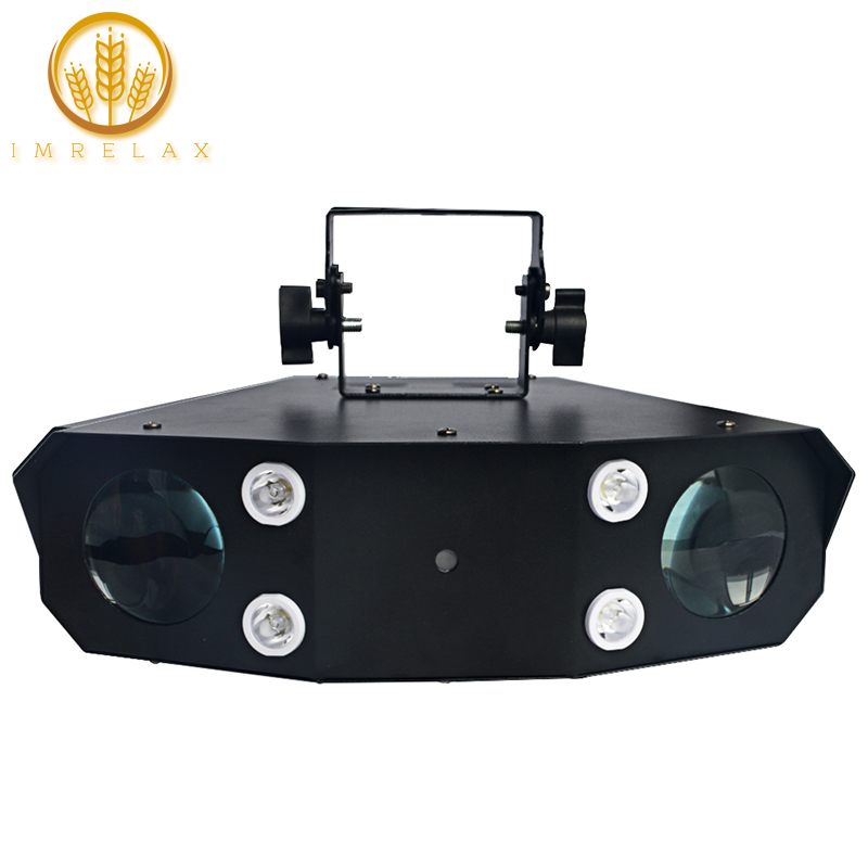 IMRELAX New Laser Strobe LED Effect DJ Light Two Heads Scan with Laser Effect Disco Light