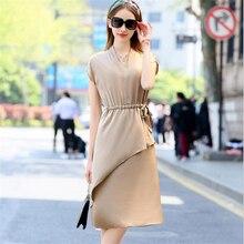 2da899eae53 Lady Breathable Silk Dress Women Silk Vestido Lady Oversized Rob Woman  Summer Plus Size 92%
