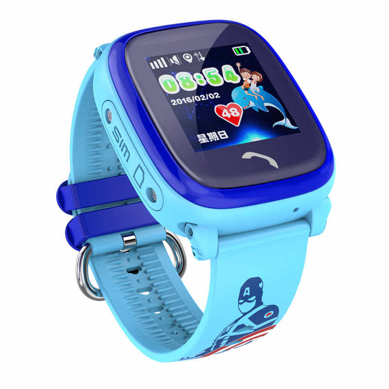 IP67 Waterproof 2019 New GPS Baby Watch Phone DF25 SOS Call Location Kids Smart Watch Clock Anti-Lost Monitor Pk Q50 Q90 Q100