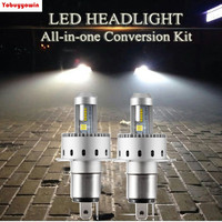 2Pcs New Play And Pug 7S H4 Hi Lo High Intensity 160W 12000Lms Super Bright LED
