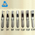 Promotion 7pcs Stainless Steel Tattoo Tips Shader Kit for Tattoo Grip Tattoo Machine Flat Tips only Tattoo Gun supplies