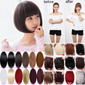 Sweet Thick Fringe Bangs Clip In Hair Extensions Brown Black Straight Hair fd51