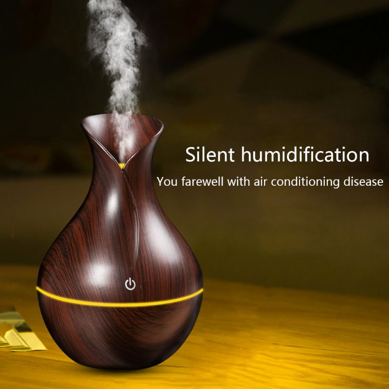 130ml Electric Ultrasonic Aroma Humidifier Essential Oil Diffuser USB For Home Office Use