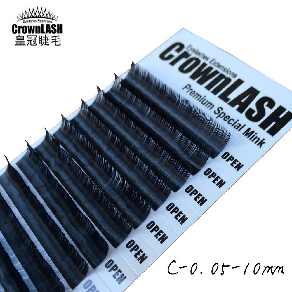 Crownlash μαύρο 9D Volume Lash Extension C, D-0.05 7-15mm - Μακιγιάζ - Φωτογραφία 3