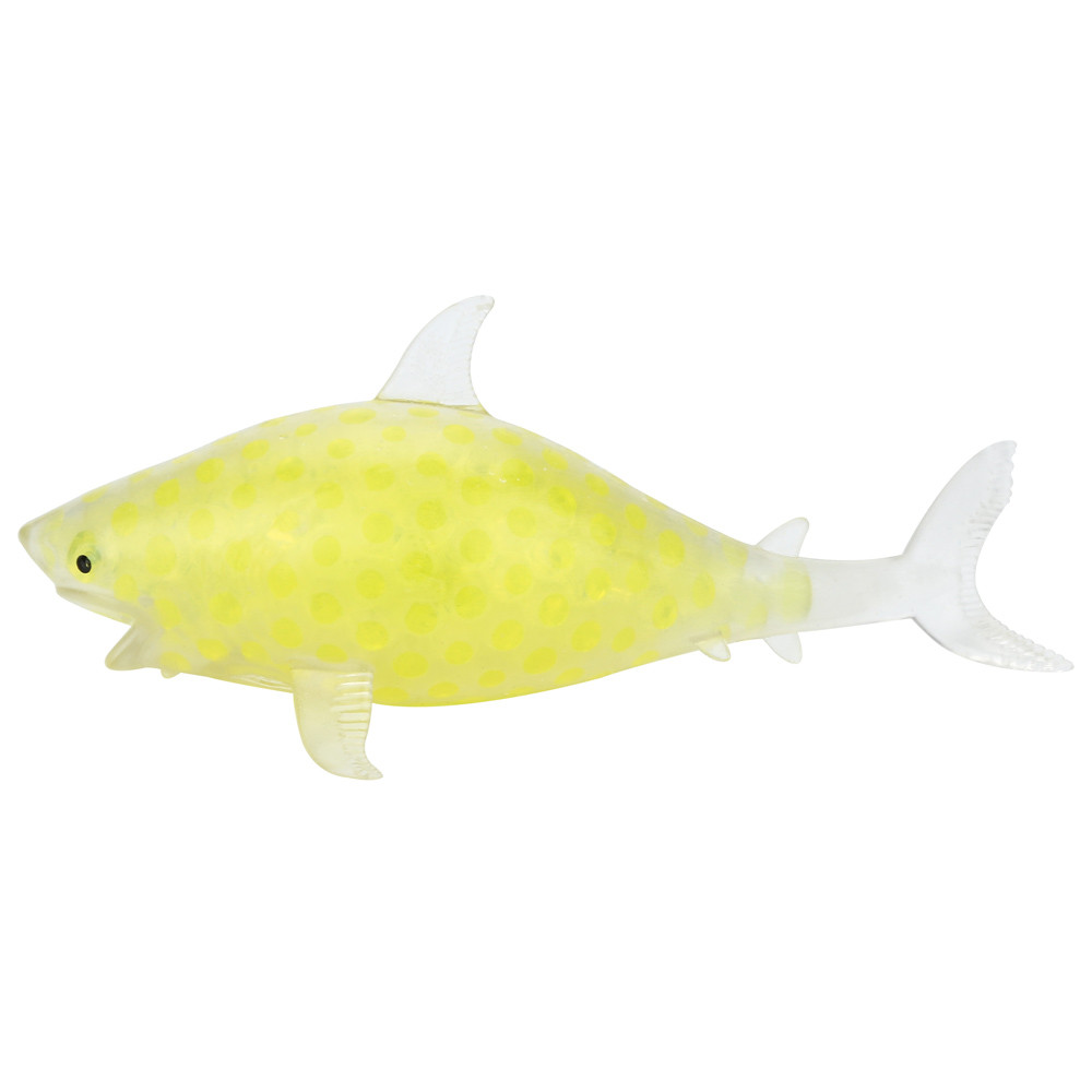 Spongy Shark Bead Stress Ball Toy Squeezable Stress Toy Stress Relief Ball 7.19