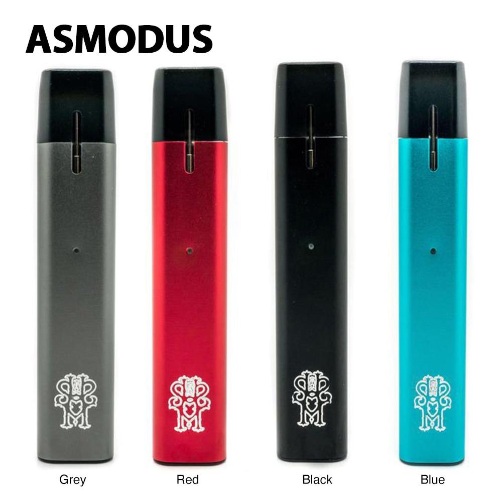 Asmodus Flow V1.5 Ultra Portable Kit 500mah Battery 2ml Pod 2.5ohm KAL Coil 4 Protections Long Time Vaping Pods VS Drag 2/ Nano