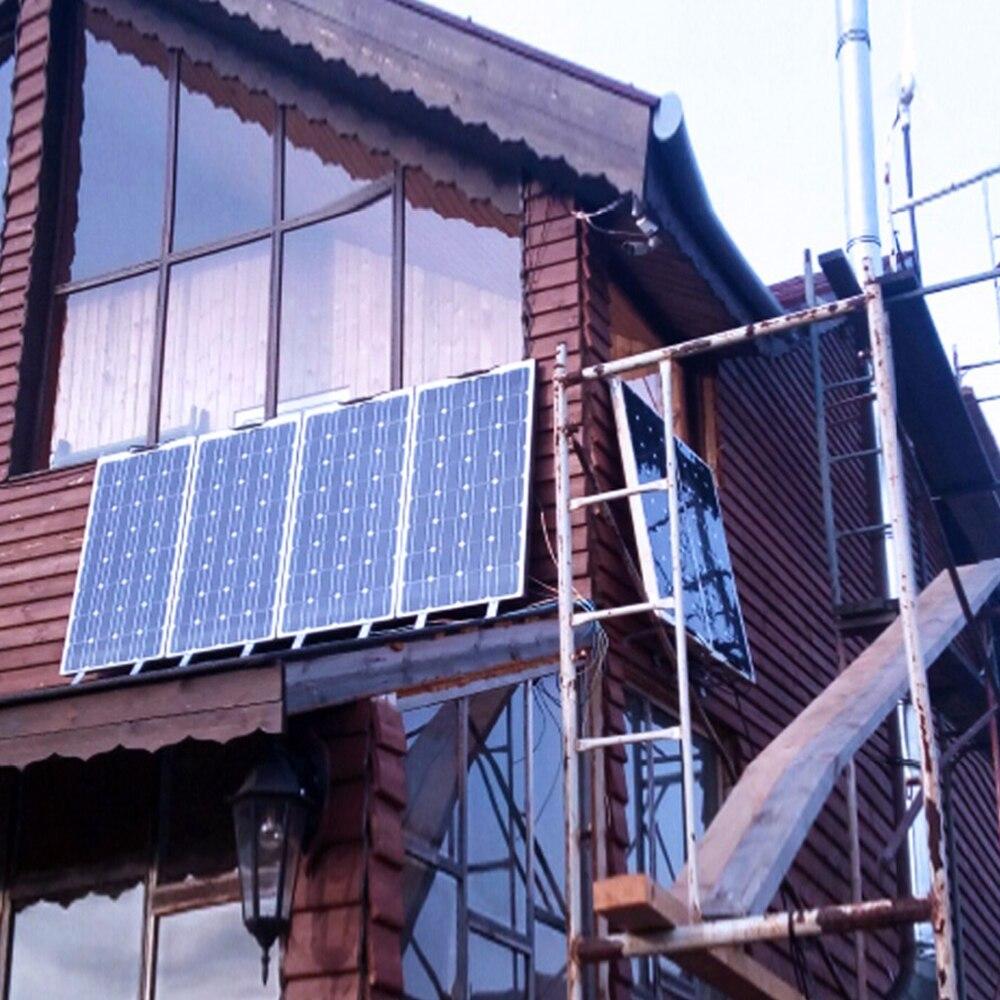 Boguang 300 w panneau solaire (3*100 W) + 30A contrôleur + 110 v 220 v 500 w onduleur hors réseau 12 volts système de batterie 300 watt - 6