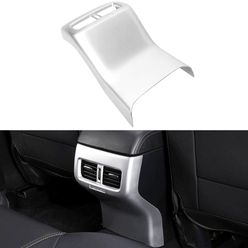 ABS Matte Carbon fiber Armrest Box Rear Air Conditioning AC Vent Outlet Molding Garnish Cover Trim For Mazda CX-5 CX5 2017 2018 for mazda cx 5 cx5 2017 2018 kf 2nd gen armrest console pad cover cushion support box armrest top mat liner car stickers