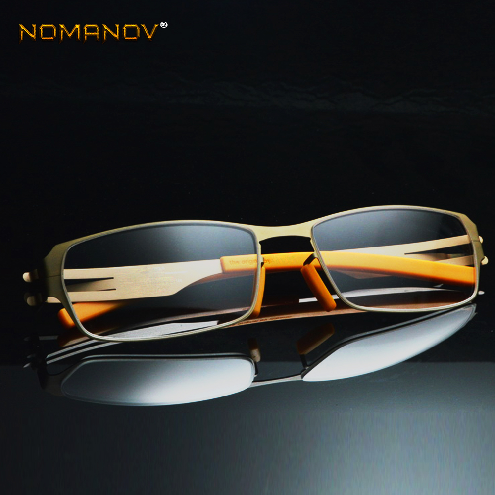 No Solder Joint Without Screw Ultra Light Frame Custom Made Optical Prescription Myopia Glasses Photochromic -1 To -6