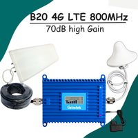 Lintratek LCD Display 4G Signal Booster LTE Band 20 Mobile Phone Signal Repeater LTE 800mhz Cell