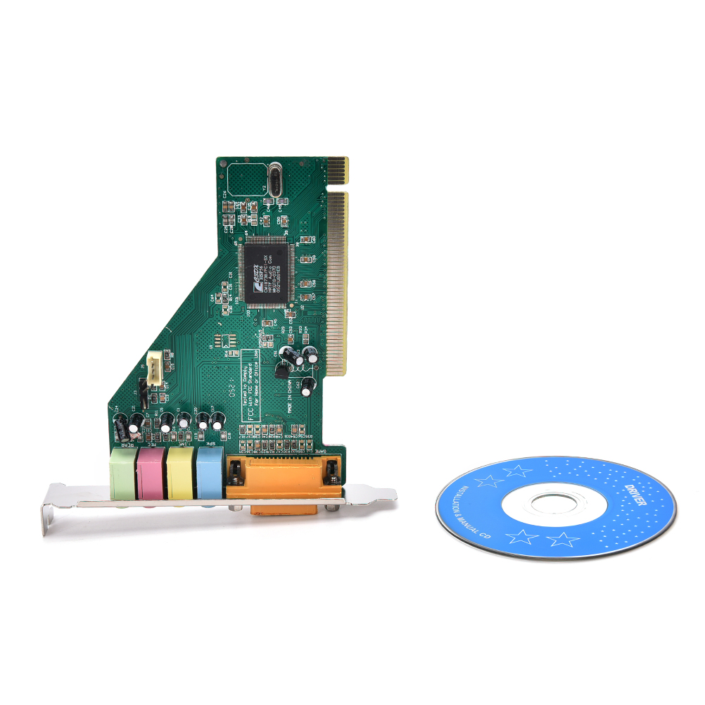 Hot 4 canaux 5.1 Surround 3D PC PCI son carte Audio avec jeu MIDI Port carte son pour PC Windows XP/7/8/10Hot 4 canaux 5.1 Surround 3D PC PCI son carte Audio avec jeu MIDI Port carte son pour PC Windows XP/7/8/10