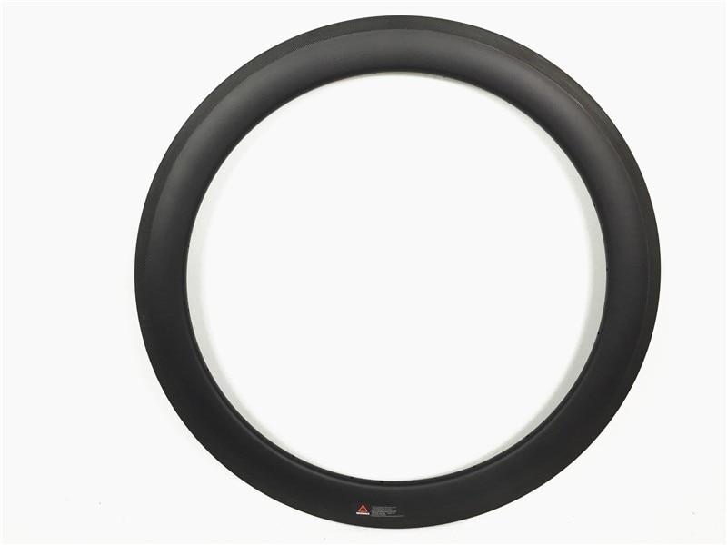 700C full carbon fiber 60mm deep x 25mm wide aero u shape tubeless compatibl road rims, disc braking surface available ironfix 568 60 700