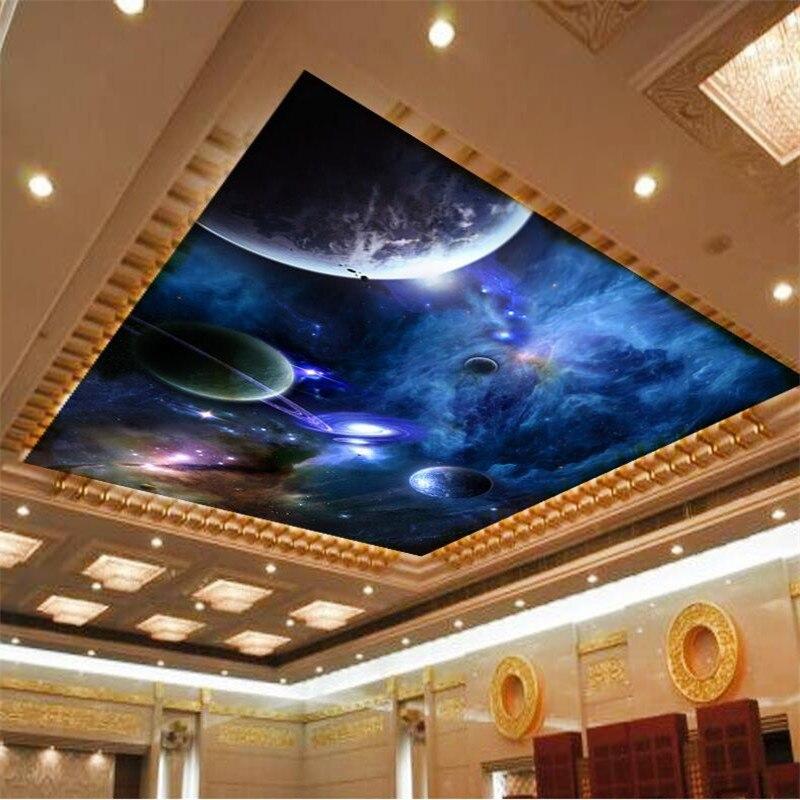 Wallpaper 3d Mural For Living Room Star Planet Universe