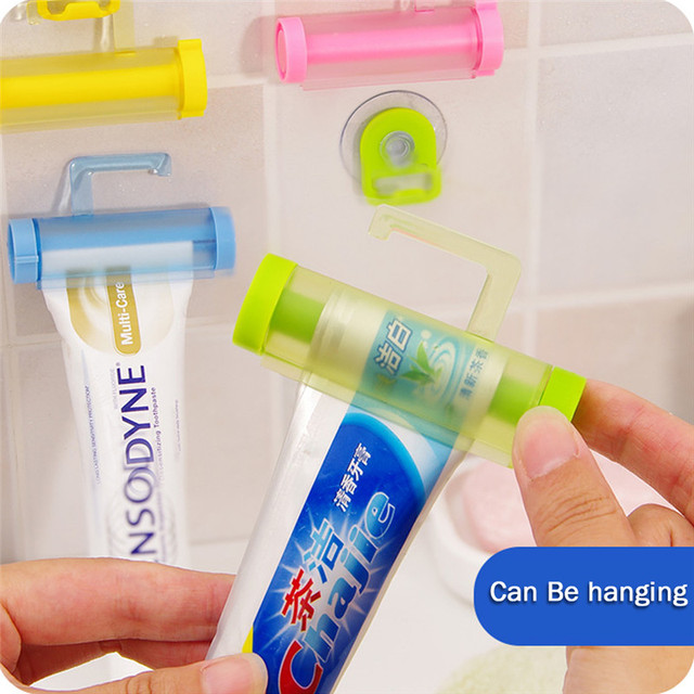 New Arrival Bathroom Set Accessories Rolling Tube Tooth Paste Squeezer Toothpaste Dispenser Holder Bathroom Products Wall Hanger