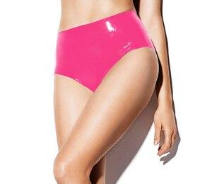 Image 1 - Form rosa latex unterwäsche für weibliche sexy gummi höschen
