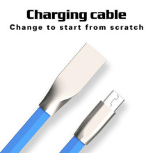 Fast Charging Flat Zinc 1M 3FT Zinc Alloy Micro USB Cable Charger Sync Data Cord For Samsung Galaxy S7 Xiaomi Android Devices