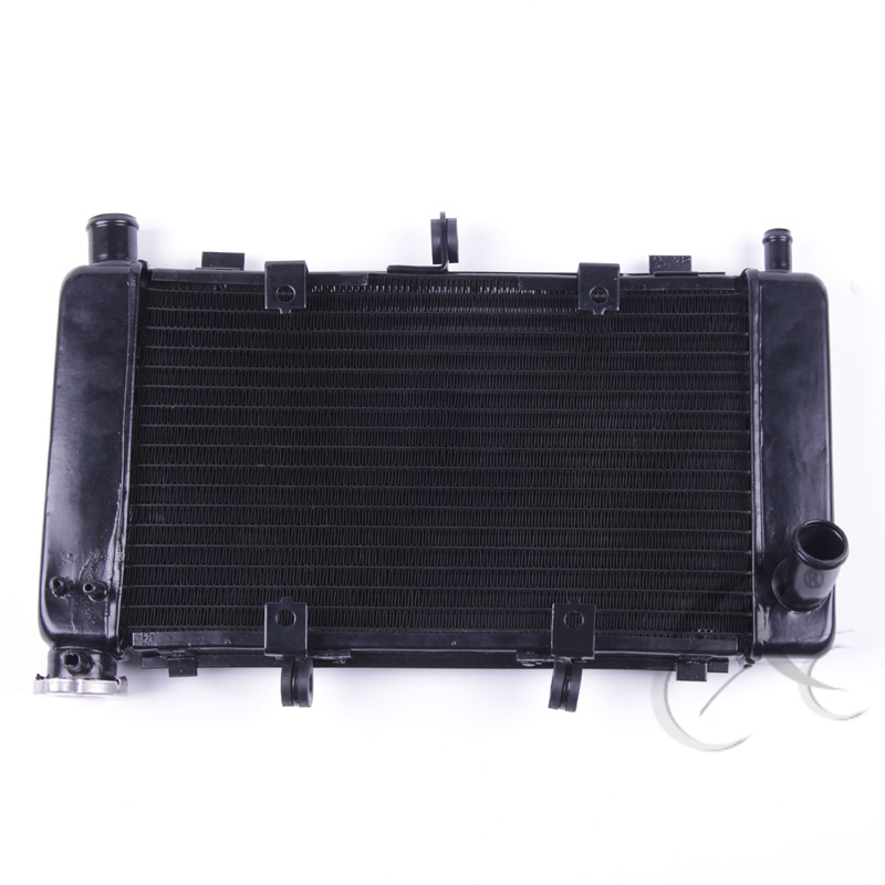 Black Replacement Radiator Cooler Cooling For YAMAHA FZ6 FZ6N FZ6S FZ600 04-10 кронштейн фары fz600 6 fz6n 05 06 07 08 atv