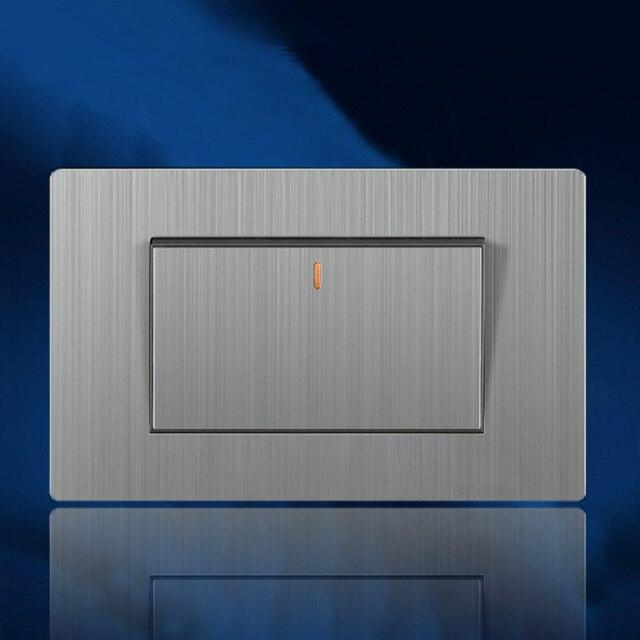 118 mm 86 mm moderne lectrique interrupteur mural luxe. Black Bedroom Furniture Sets. Home Design Ideas
