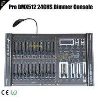 Свет этапа 24 канала DMX 512 затемнение консоли 24CH 48 всего фейдеры воспроизведения диммер контроллер с светодиодный лампы подключения