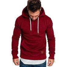 2019 NEW Spring Sweatshirt Men Casual Hoodies Male Long Sleeve Solid Hoodie Plus Size
