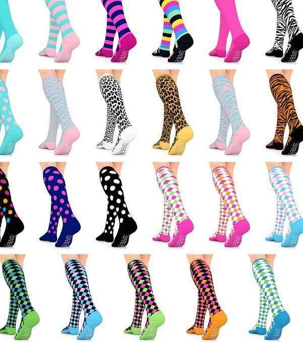 david angie Men Women Boy Girl Men Sports Compression   Sock   Nursing Athletic Exercise   Socks   Fit for Running Travel,1Yc7008