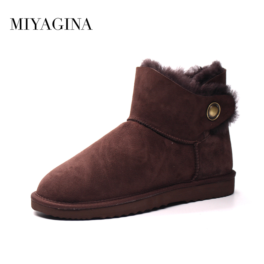Hot Sale New Brand Women Boots Genuine Sheepskin Leather Snow Boots 100% Natural Fur Ankle Boots Women Shoes rogz лежак для собак rogz spice podz синий l
