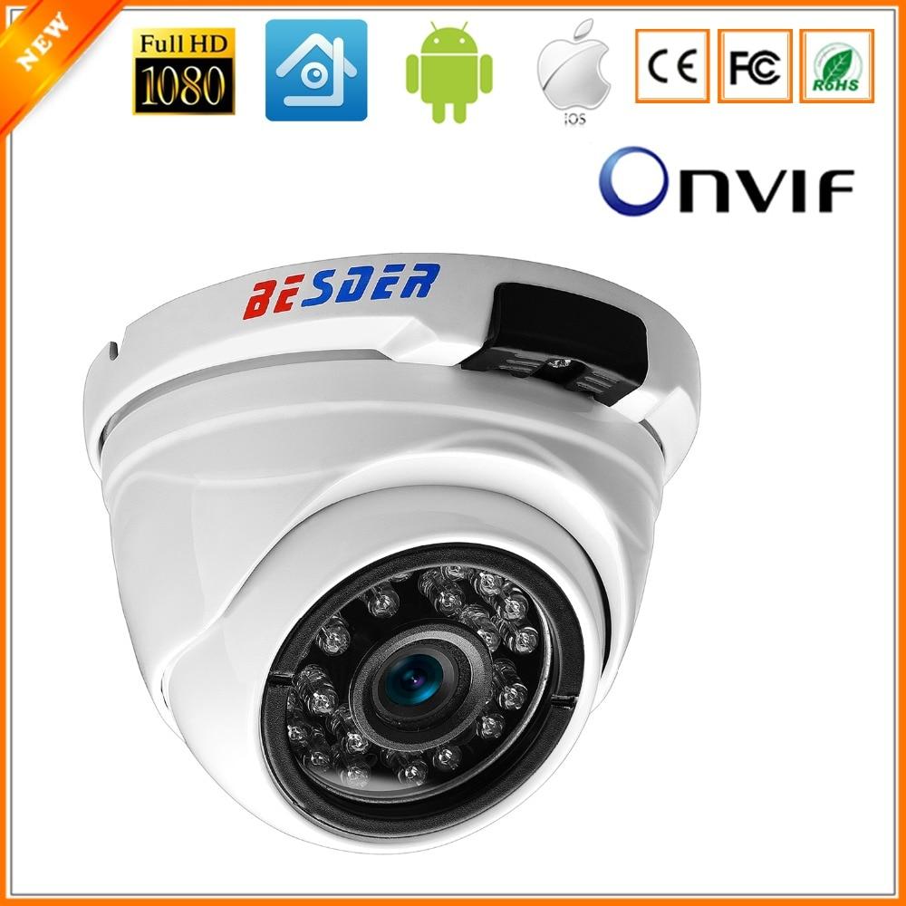 BESDER Vandal-proof Indoor Outdoor Dome Camera IP Wide Angle Waterproof IP Camera 1080P 960P 720P  IR Night Security Home Camera