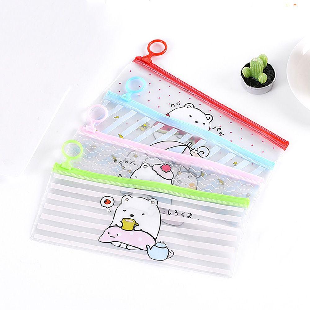 Limit Shows Cartoon Pencil Cases Portable Transparent PVC Makeup Bag Clear Woman Cosmetic Bag Travel Zipper Toiletry Wash Pouch