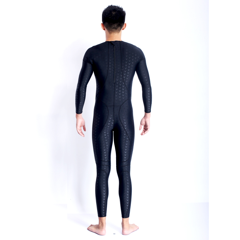 d25eff7125 Men Approval Professional Tight Full Body SwimSuit Approval Competition  Sharkskin Fabric Nylon Sport Breathable Body SwimWear-in Men s Body Suits  from ...