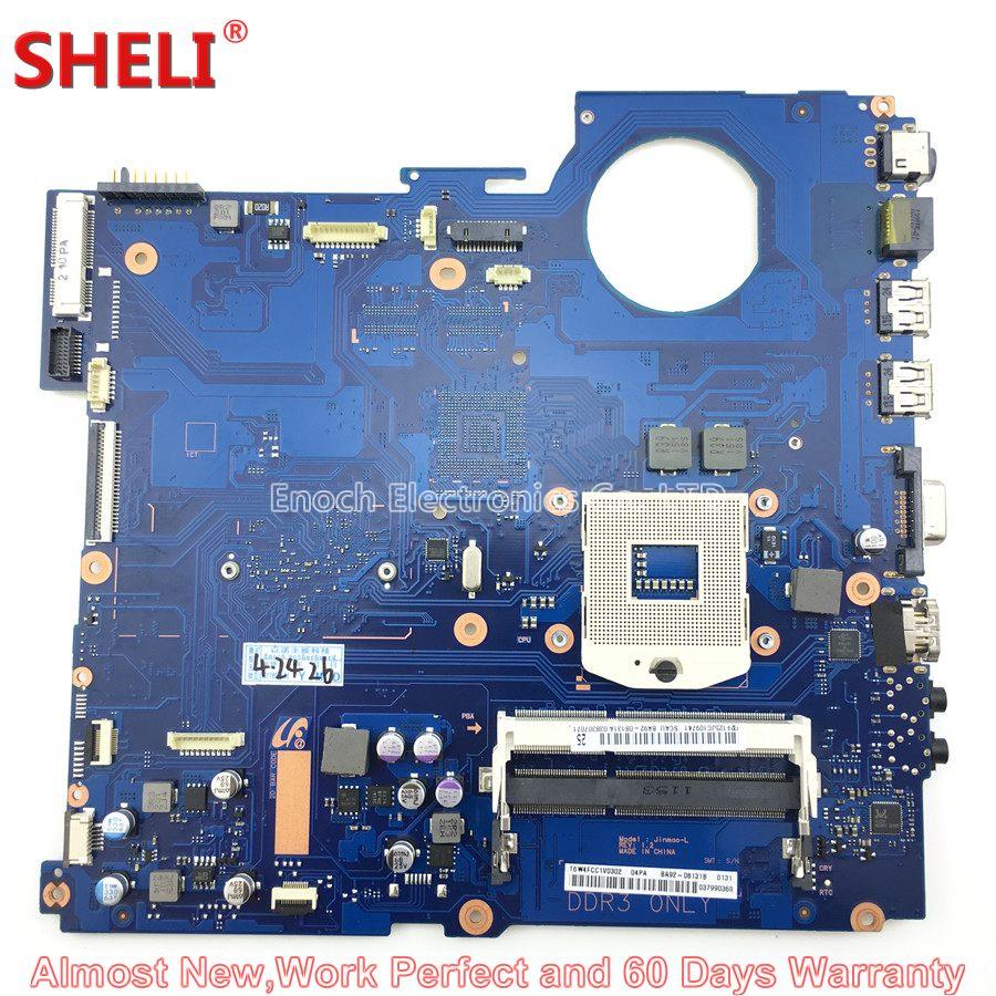 SHELI BA92-08131A BA92-08131B Laptop Motherboard For Samsung NP-RV711 RV711 RV511 Jinmao_L BA41-01435A Main Board System Board 100% working laptop motherboard for samsung rv420 ba92 08731b series mainboard system board
