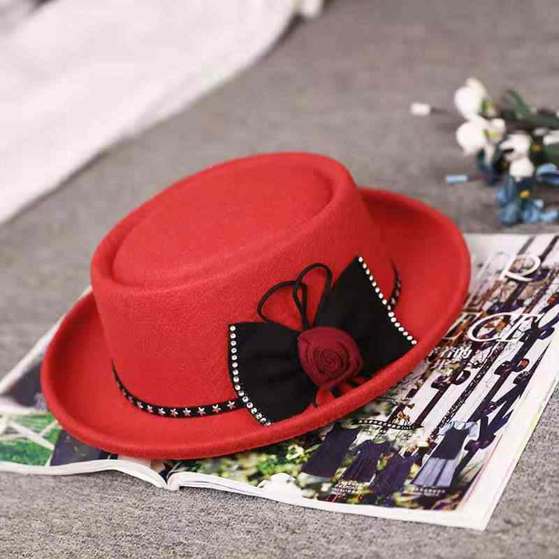 2019 fashion الرجال والنساء قبعة الوجه الجاز قبعة ريترو شعبية قبعة مصنوعة من الصوف قبّعة مسطّحة في الهواء الطلق الترفيه قبعة