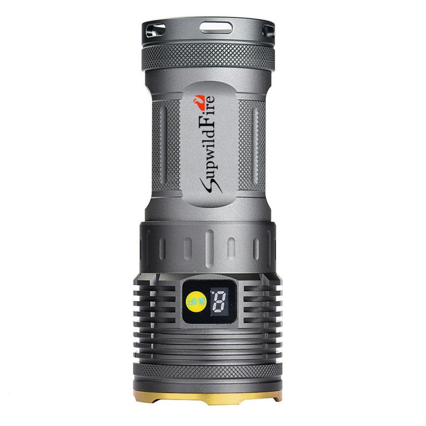 NEW Supwildfire 16000LM 7 x XM-L T6 LED Flashlight Power & Mode Digital Display Hunting light AP0811