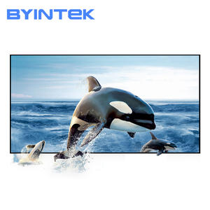 BYINTEK 100 120 130 inch Reflective Fabric Projector Projection Screen Enhance Brightness