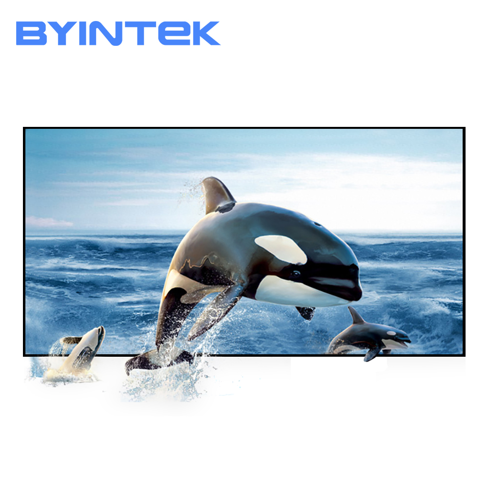 BYINTEK Projector Screen,72inch 84inch 100inch 120inch 130inch Reflective Fabric Projector Projection Screen Enhance Brightness