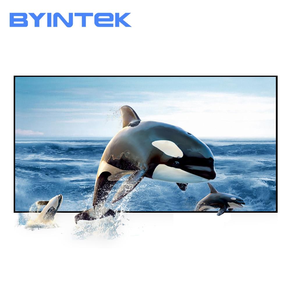 Tela do projetor de byintek, 72 polegada 84 polegada 100 polegada 120 polegada tela reflexiva da projeção do projetor da tela de 130 polegadas aumenta o brilho