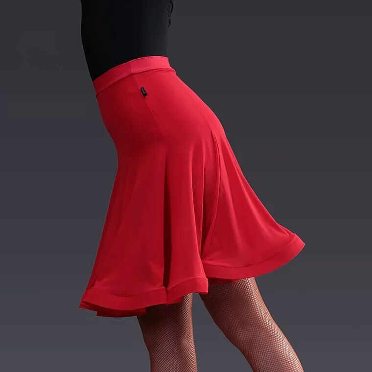 Модная женская бальная юбка для латинских танцев костюм Танго сексуальная юбка Румба Самба танец для женщин тренировочное платье одежда для выступлений