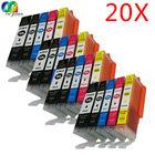 20 Pcs W/Chip Ink Cartridges Compatible for Canon Pixma IX6850 MG5650 MG6650 MG7550 MX725 MX920 MX925