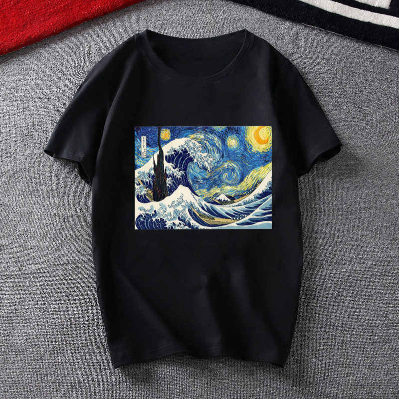 Summer Black Vintage Van Gogh Womens Tshirts Harajuku Kawaii Riverdale Aesthetic Angel Shirt I Am Dead Inside Graphic Tees Women