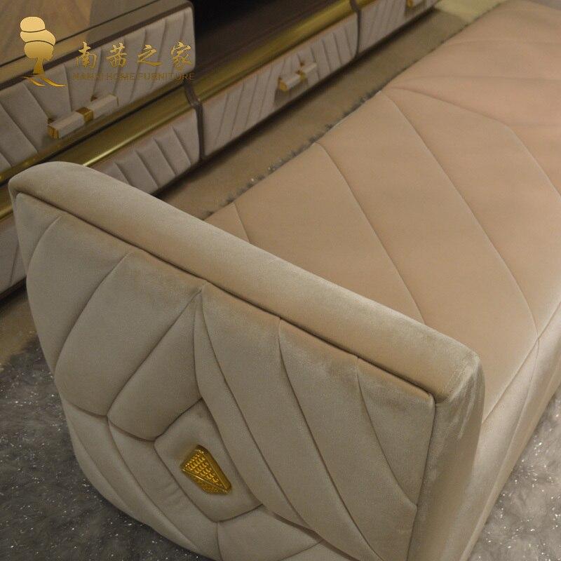 Muebles de dormitorio moderno cama final silla otomano sofá de tela ...