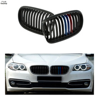 Free shipping 2pcs/lot For BMW E90 E91 3 Series M3 2008 2011 Modification Matte black Bumper Kidney Front Grill Grille Wholesale