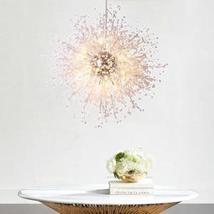 Image 3 - Lustre de cristal moderna iluminação globo lustres luz redonda acrílico pendurado lâmpada luminárias para casa restaurante decoração